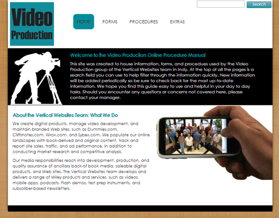 Video Production Online Manual